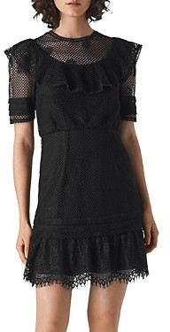 Whistles Mariah Ruffled-Lace Dress
