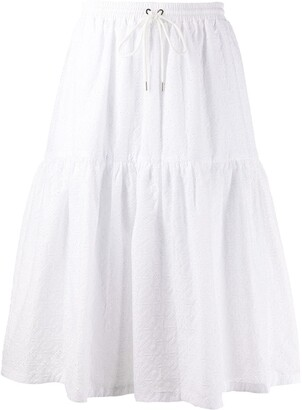 Markus Lupfer Broderie Anglaise Tiered Skirt
