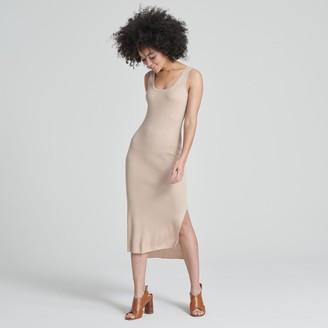 Naadam Summer Silk Tank Dress Beige