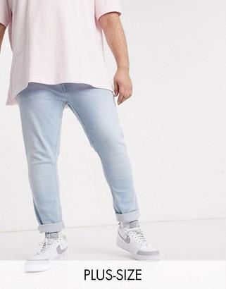 Burton Menswear Big & Tall jeans in light wash blue