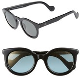 Moncler Women's 49Mm Keyhole Sunglasses - Dark Havana/ Smoke