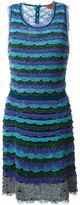 Missoni scalloped stripes knit dress
