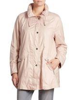 Basler, Plus Size Hooded Zip-Front Jacket