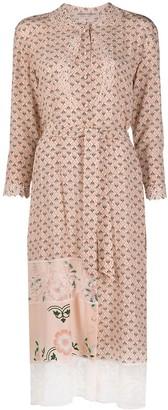 Ermanno Scervino Floral Print Shirt Dress