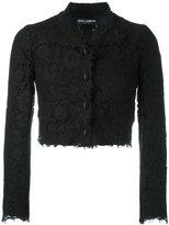 Dolce & Gabbana cropped lace jacket - women - Silk/Cotton/Polyamide/Viscose - 36