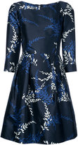 Oscar de la Renta boat neck fitted dress