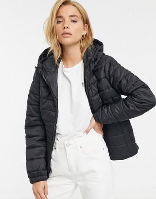 New Look lightweight puffer jacket in black
