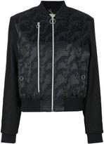 Versace embroidered bomber jacket - women - Polyamide/Polyester/Spandex/Elastane/Wool - 38