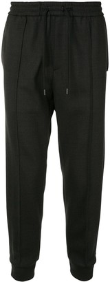 Solid Homme Drawstring Cropped Trousers