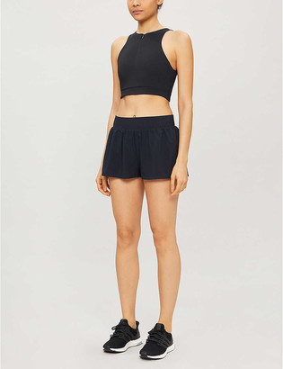 Vaara Stella wide-leg high-rise woven shorts