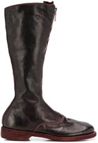 Guidi zip front mid-calf boots