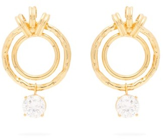 ATTICO Banded Nonna Earrings - Gold