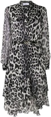 Blumarine Leopard Print Shirt Dress