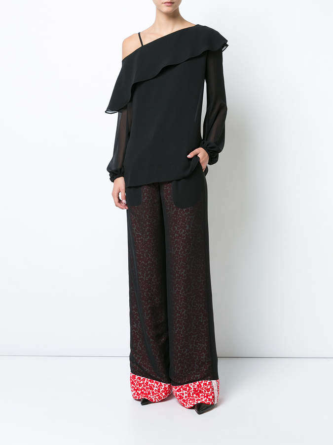 Derek Lam Double Layer Pant with Foldover Cuff
