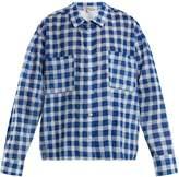 Natasha Zinko Gingham cotton-seersucker shirt