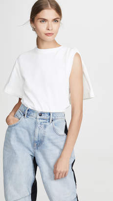 Alexander Wang Draped Short Sleeve T-Shirt