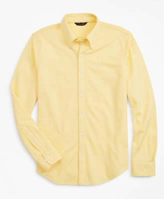 Brooks Brothers Premium Extra-Fine Supima Cotton Pique Button-Down Shirt