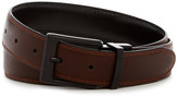 Steve Madden Smooth Stitched Reversible Leather Belt