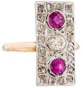 Ring Edwardian Pink Sapphire & Diamond
