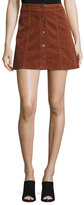 Joie Tilda Corduroy Button-Front Miniskirt