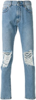 MSGM distressed regular jeans - men - Cotton/Polyester - 46