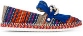 Casadei chain detail fringe trim espadrilles - women - Raffia/Leather/Calf Suede/rubber - 36