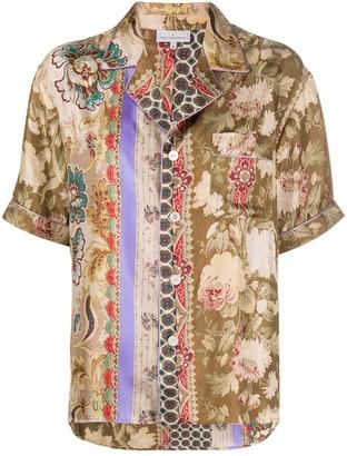 Pierre Louis Mascia Printed Silk Shirt