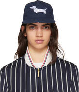 Thom Browne Navy Hector Icon Five-Panel Baseball Cap