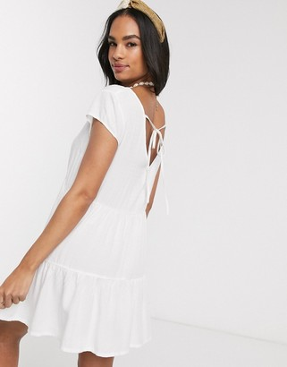 rhythm Bianca tiered beach dress in white