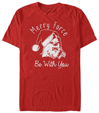 Fifth Sun Tee Shirts RED - Star Wars Red 'Merry Force Be With You' Tee - Adult