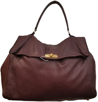 Marni Burgundy Leather Handbags