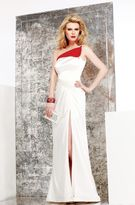 Faviana s7002 One Shoulder Strap Gown with Slit