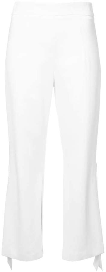 Cushnie flared cropped trousers