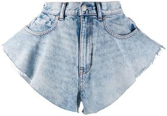 Alexander Wang wide denim shorts