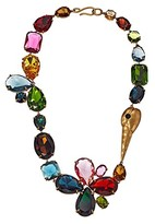 Tory Burch Conversational Stone Necklace (Brass/Multi) Necklace