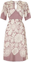 Sweet Pea Nancy Mac Tea Dress In Lace Stencil Print Crepe