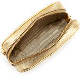Prada Saffiano Small Zip Crossbody Bag, Gold (Platino)