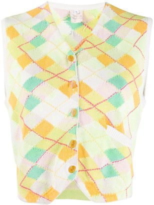 Vivienne Westwood Pre Owned 1990s Argyle Knitted Vest