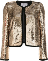 Monique Lhuillier cropped sequin jacket