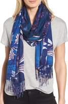 Nordstrom Women's Viennese Floral Tissue Wool & Cashmere Scarf