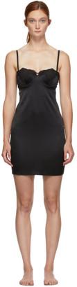 Fleur Du Mal Black Lace James Cup Slip Dress