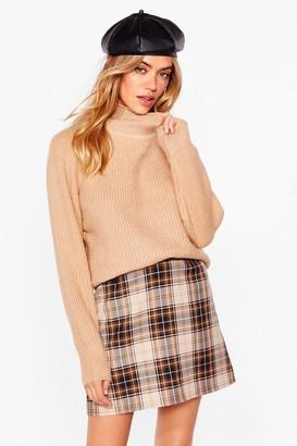 Nasty Gal Womens Warm Welcome Oversized Knit jumper - Beige - S