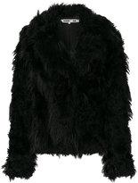 McQ faux fur peacoat