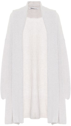 Agnona Ribbed knit cashmere-blend cardigan