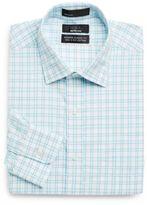 Saks Fifth Avenue BLACK Classic-Fit Windowpane Dress Shirt