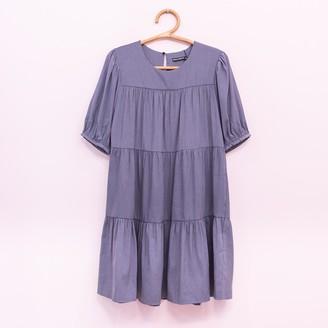 Wild Pony - Grey Velvet Babydoll Dress - XS | polyester | grey - Grey/Grey