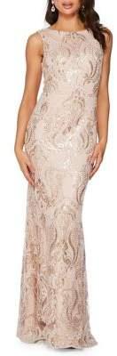Quiz Sleeveless Sequin Gown