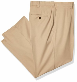 Haggar Big & Tall Cool 18 Pro Classic Fit Pleat Front Expandable Waist Pant