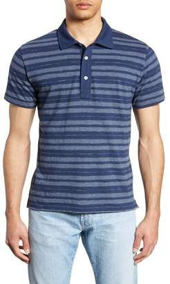 Billy Reid Textured Stripe Regular Fit Polo