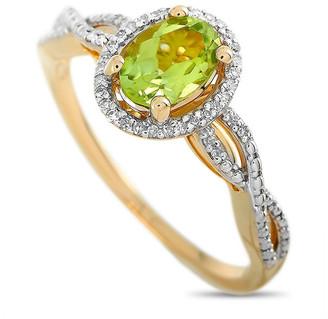 Non Branded 14K 0.10 Ct. Tw. Diamond & Peridot Ring